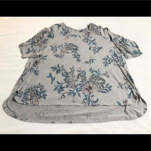 Avenue Floral Round Neck Tunic 2X READ ABOUT SIZE